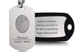 His And Hers Dog Tags Fingerprint Keepsakes Horan U0026 Mcconaty