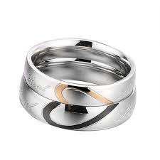 matching titanium wedding bands 1 matching heart titanium steel simple circle real