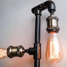 Steunk Light Fixtures Industrial Black Plumbing Pipe Vanity Wall Light Fixture 4 Edison