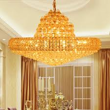 Art Deco Chandeliers For Sale Aliexpress Com Buy Modern Gold K9 Crystal Chandelier Big Round