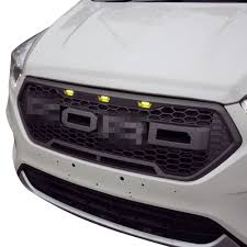 Ford Raptor Grill Lights - 2016 2017 ford escape raptor style front overlay grill mesh grille