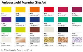 painting colour marabu glasart glass paint colour chart