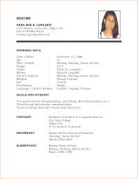 basic resume outline objective simple resume exle resume templates