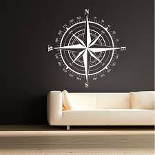 theme wall compass wall decal compass nautical decal theme wall