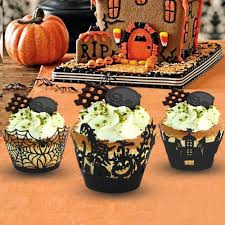 compra halloween cupcakes decorados online al por mayor de china