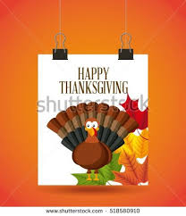 happy thanksgiving card turkey decorative stock vector
