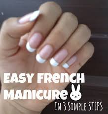 easy french manicure for beginners tutorial diy at home like salon