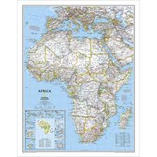 Africa Map Political by Africa Classic Wall Map National Geographic Store
