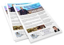 one page brochure ken okel