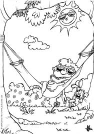 hammock coloring pages hellokids com