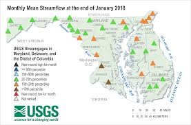 Potomac River On Map Streamflow Statistics Usgs Water Resources Of Maryland Delaware