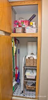 cleaning closet ideas simply organized organizing the cleaning closet yellow bliss road