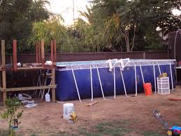 Diy Backyard Pool by This Insane House Diy Backyard Landscaping Above Ground Pool Up