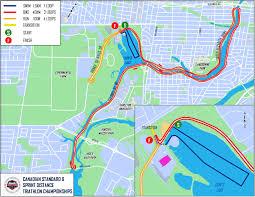 Distance Map Standard Distance Triathlon Championships