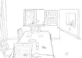 Room Sketch Dining Room Sketch By Tristuscus On Deviantart