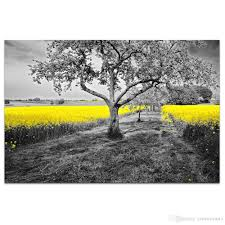 1 panel hd printed golden flower canvas prints black and