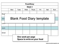 blank exercise diary