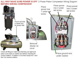 compressor wiring diagram three phase compressor wiring diagrams