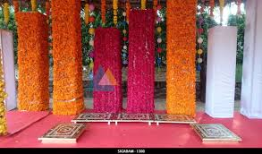 House Decoration For Engagement by Outdoor Engagement Decoration Done At Prince Park Resort