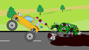 toddler monster truck videos tow truck saving green lantren monster truck video cartoon for