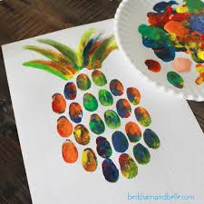 diy pineapple thumbprint art beckham belle