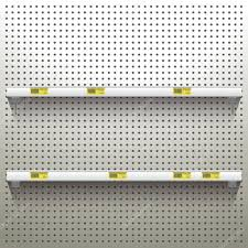 Peg Board Shelves by White Pegboard Background With Shelves U2014 Stock Vector Eespace