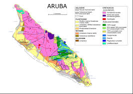 Map Of Coral Reefs Geology Map Of Aruba Dutch Caribbean