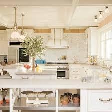 kitchen peninsula with raised breakfast bar design ideas