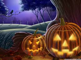 halloween night wallpaper jack o the lanterns hd desktop wallpaper widescreen high