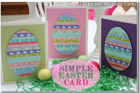 handmade cards simple easter card babysitting academy