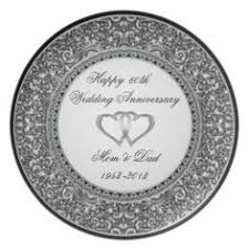 60th wedding anniversary plate 50th wedding anniversary melamine plate