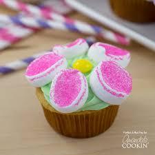 marshmallow flower cupcakes flower cupcake recipe