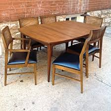 Mid Century  Seat Walnut Dining Set W  Leafs Walnut Mid - Lane furniture dining room
