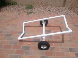 pvc kayak cart 5 steps with pictures