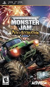 monster truck video amazon com monster jam 3 path of destruction sony psp video games