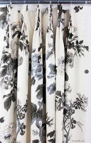 schumacher pyne hollyhock print pinch pleated drapes
