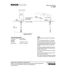 kohler k 13460 cp universal polished chrome electronic bathroom