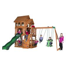 shop backyard discovery liberty ii residential wood playset with