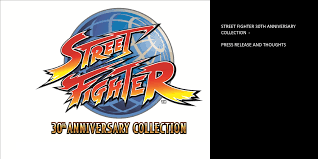 celebrate the 30th anniversary of street fighter with the street