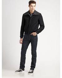 Wool Bomber Jacket Mens Dior Homme Wool Bomber Jacket In Black For Men Lyst