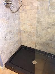 the onyx collection shower base color thunder and travertine