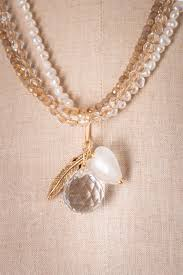 pearl charm necklace images Triple strand czech glass and pearl charm necklace sold suzieandjack jpg