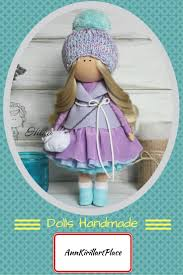 tilda doll handmade doll violet doll russian doll cloth doll