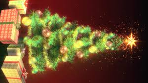 growing green christmas tree stock video footage synthetick