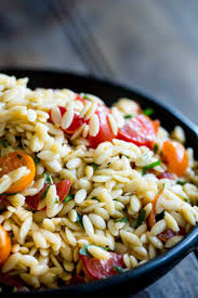 What Is A Main Dish - tomato risoni salad tomato orzo salad sprinkles and sprouts