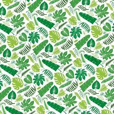 tropical palm leaves pattern vector green leaf silhouette