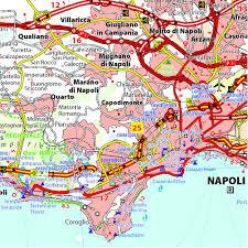 Napoli Map by Campania Michelin Local Map 362 Michelin Regional Maps Amazon