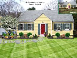 landscaping ideas for front yard shrubs landscape design