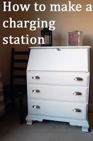 laptop charging station how to make a charging station and laptop storage from a dresser