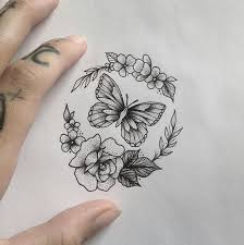 with a skull instead of a butterfly crown arm in